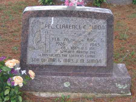 SIMON (VETERAN WWII), CLARENCE C. - Lawrence County, Arkansas | CLARENCE C. SIMON (VETERAN WWII) - Arkansas Gravestone Photos