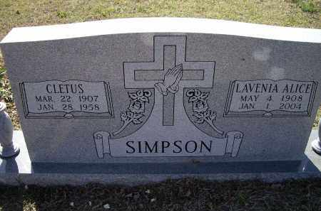 SIMPSON, CLETUS - Lawrence County, Arkansas | CLETUS SIMPSON - Arkansas Gravestone Photos