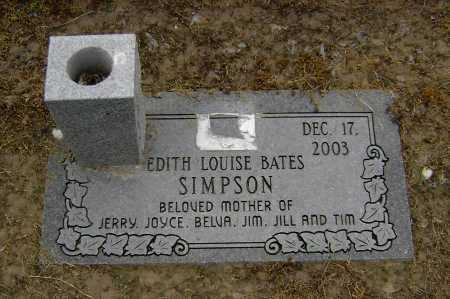 BATES SIMPSON, EDITH LOUISE - Lawrence County, Arkansas | EDITH LOUISE BATES SIMPSON - Arkansas Gravestone Photos