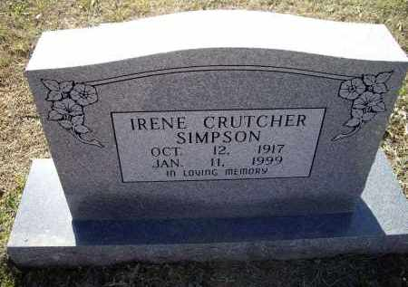 CRUTCHER SIMPSON, IRENE M. - Lawrence County, Arkansas | IRENE M. CRUTCHER SIMPSON - Arkansas Gravestone Photos
