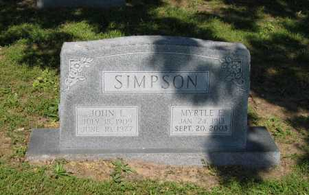 KINDER SIMPSON, MYRTLE ETHEL - Lawrence County, Arkansas | MYRTLE ETHEL KINDER SIMPSON - Arkansas Gravestone Photos