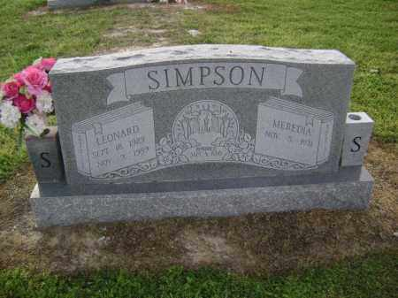 SIMPSON, LEONARD WILLIS - Lawrence County, Arkansas | LEONARD WILLIS SIMPSON - Arkansas Gravestone Photos