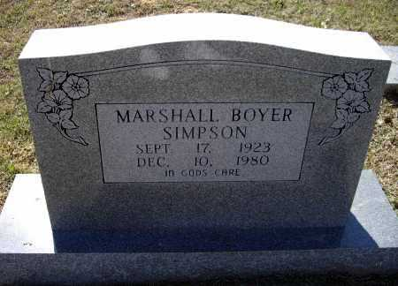 SIMPSON, MARSHALL BOYER - Lawrence County, Arkansas | MARSHALL BOYER SIMPSON - Arkansas Gravestone Photos