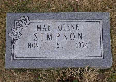 SIMPSON, MAE OLENE - Lawrence County, Arkansas | MAE OLENE SIMPSON - Arkansas Gravestone Photos
