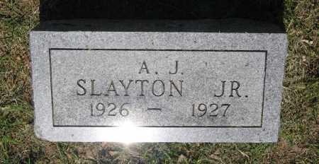 SLAYTON, JR., AMOS J. - Lawrence County, Arkansas | AMOS J. SLAYTON, JR. - Arkansas Gravestone Photos