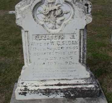 CRAVENS SLOAN, ELIZABETH JANE - Lawrence County, Arkansas | ELIZABETH JANE CRAVENS SLOAN - Arkansas Gravestone Photos