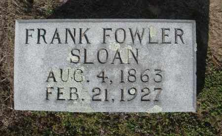 "SLOAN, FRANKLIN FOWLER ""FRANK"" - Lawrence County, Arkansas 