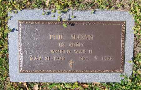 "SLOAN III (VETERAN WWII), MILLARD FILLMORE ""PHIL"" - Lawrence County, Arkansas 