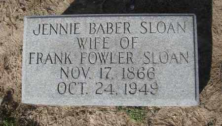 "BABER SLOAN, VIRGINIA ""JENNIE"" - Lawrence County, Arkansas 