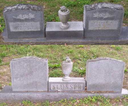 SLUSSER, ESTHER A. - Lawrence County, Arkansas | ESTHER A. SLUSSER - Arkansas Gravestone Photos
