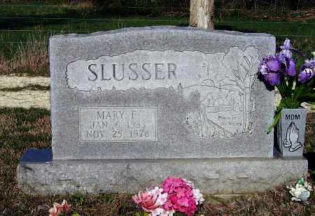 RUSSELL SLUSSER, MARY FRANCES - Lawrence County, Arkansas | MARY FRANCES RUSSELL SLUSSER - Arkansas Gravestone Photos