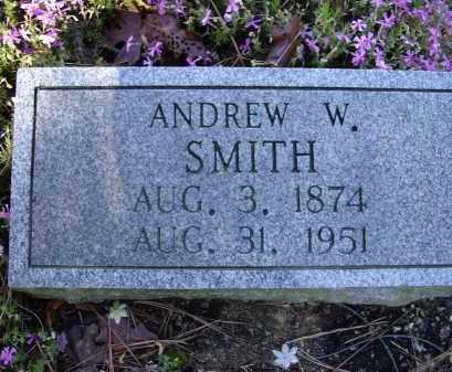 SMITH, ANDREW W. - Lawrence County, Arkansas | ANDREW W. SMITH - Arkansas Gravestone Photos