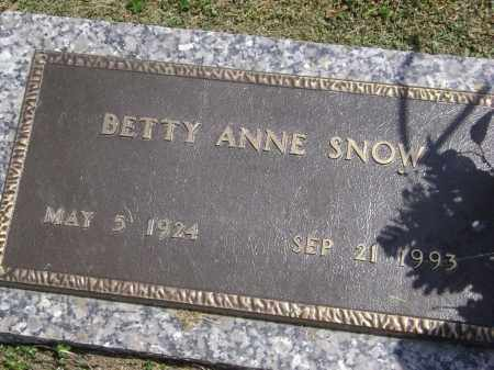 SNOW, BETTY ANNE - Lawrence County, Arkansas | BETTY ANNE SNOW - Arkansas Gravestone Photos