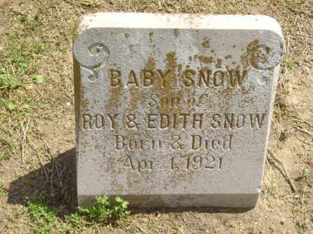 SNOW, INFANT SON - Lawrence County, Arkansas | INFANT SON SNOW - Arkansas Gravestone Photos