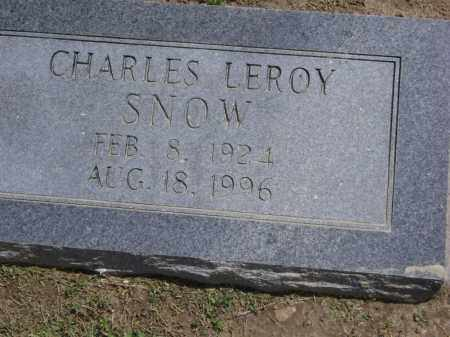 SNOW, CHARLES LEROY - Lawrence County, Arkansas | CHARLES LEROY SNOW - Arkansas Gravestone Photos
