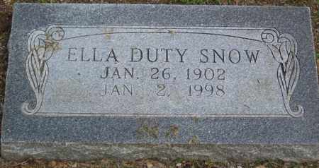 DUTY SNOW, ELLA - Lawrence County, Arkansas | ELLA DUTY SNOW - Arkansas Gravestone Photos