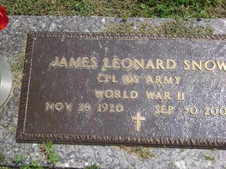 SNOW (VETERAN WWII), JAMES LEONARD - Lawrence County, Arkansas | JAMES LEONARD SNOW (VETERAN WWII) - Arkansas Gravestone Photos