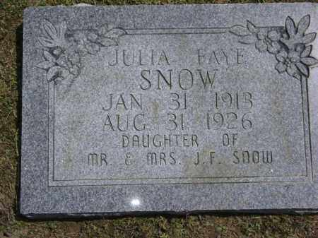 SNOW, JULIA FAYE - Lawrence County, Arkansas | JULIA FAYE SNOW - Arkansas Gravestone Photos