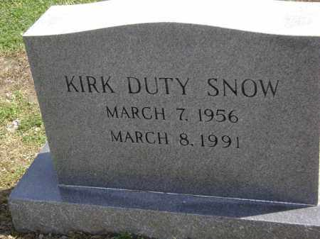 SNOW, KIRK DUTY - Lawrence County, Arkansas | KIRK DUTY SNOW - Arkansas Gravestone Photos