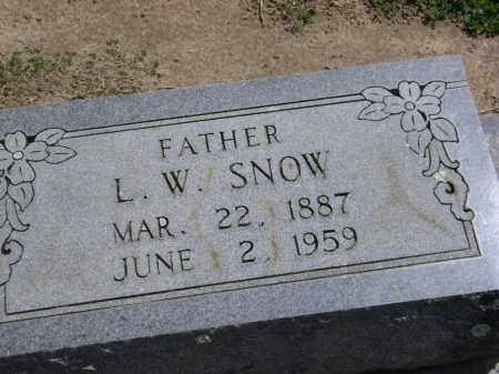 SNOW, L. W. - Lawrence County, Arkansas | L. W. SNOW - Arkansas Gravestone Photos