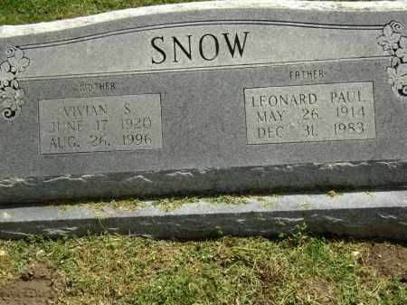SNOW, VIVIAN S. - Lawrence County, Arkansas | VIVIAN S. SNOW - Arkansas Gravestone Photos
