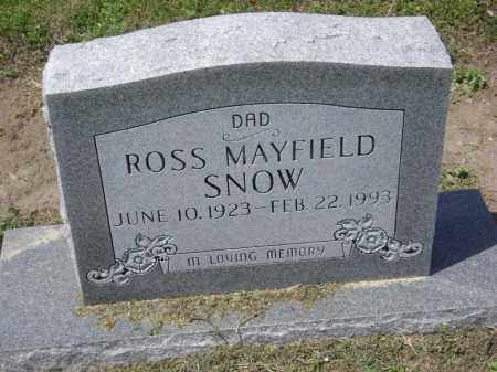 "SNOW, ROSS MAYFIELD ""NUB"" - Lawrence County, Arkansas 