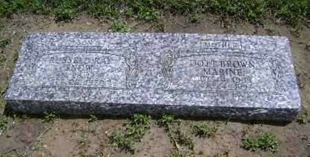 BROWN MARINE, DOTT - Lawrence County, Arkansas | DOTT BROWN MARINE - Arkansas Gravestone Photos