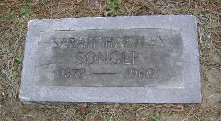HARTLEY SONGER, SARAH - Lawrence County, Arkansas | SARAH HARTLEY SONGER - Arkansas Gravestone Photos