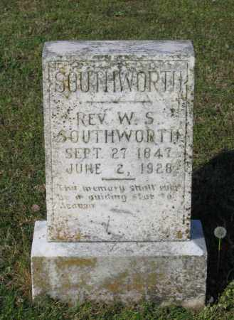 SOUTHWORTH, REV., W. S. - Lawrence County, Arkansas | W. S. SOUTHWORTH, REV. - Arkansas Gravestone Photos