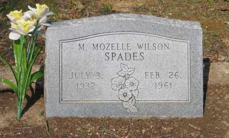 WILSON SPADES, MARJORIE MOZELLE - Lawrence County, Arkansas | MARJORIE MOZELLE WILSON SPADES - Arkansas Gravestone Photos