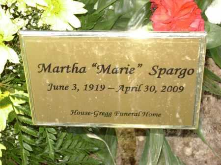 SPARGO, MARTHA MARIE - Lawrence County, Arkansas | MARTHA MARIE SPARGO - Arkansas Gravestone Photos