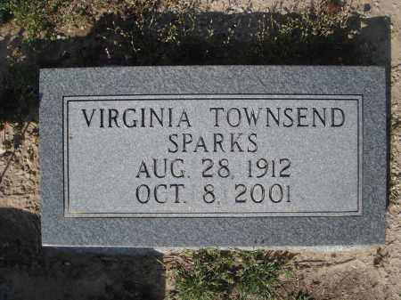 SPARKS, VIRGINIA TOWNSEND JONES - Lawrence County, Arkansas | VIRGINIA TOWNSEND JONES SPARKS - Arkansas Gravestone Photos