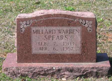 SPEARS, MILLARD WARREN - Lawrence County, Arkansas | MILLARD WARREN SPEARS - Arkansas Gravestone Photos