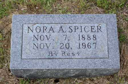 SPICER, NORA AMANDA - Lawrence County, Arkansas | NORA AMANDA SPICER - Arkansas Gravestone Photos