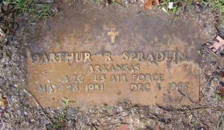 SPRADLIN (VETERAN), ARTHUR R - Lawrence County, Arkansas | ARTHUR R SPRADLIN (VETERAN) - Arkansas Gravestone Photos