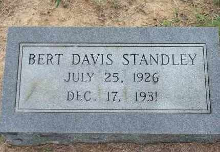 STANDLEY, BERT DAVIS - Lawrence County, Arkansas | BERT DAVIS STANDLEY - Arkansas Gravestone Photos