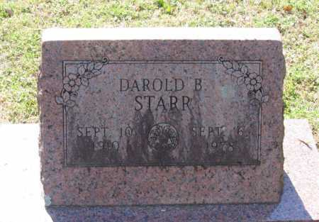 STARR, DAROLD B. - Lawrence County, Arkansas | DAROLD B. STARR - Arkansas Gravestone Photos