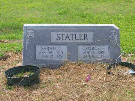 "STATLER, SARAH J.  ""SALLIE"" - Lawrence County, Arkansas 