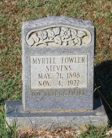 FOWLER STEVENS, MYRTLE - Lawrence County, Arkansas | MYRTLE FOWLER STEVENS - Arkansas Gravestone Photos