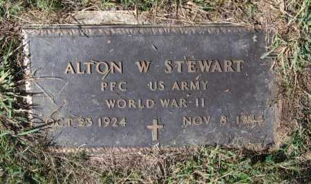 STEWART (VETERAN WWII, KIA), ALTON WHITFIELD - Lawrence County, Arkansas | ALTON WHITFIELD STEWART (VETERAN WWII, KIA) - Arkansas Gravestone Photos