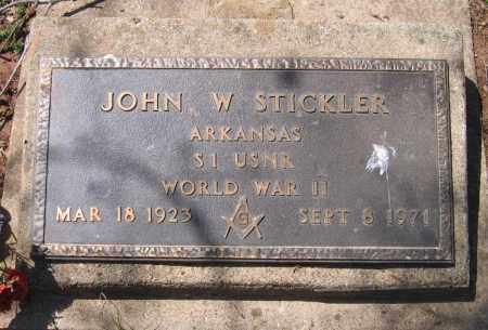 STICKLER (VETERAN WWII), JOHN W - Lawrence County, Arkansas   JOHN W STICKLER (VETERAN WWII) - Arkansas Gravestone Photos