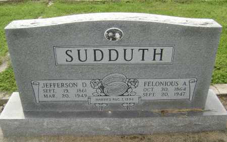 SUDDUTH, JEFFERSON DAVIS - Lawrence County, Arkansas | JEFFERSON DAVIS SUDDUTH - Arkansas Gravestone Photos