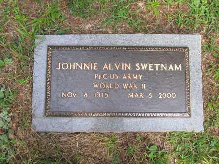 SWETNAM (VETERAN WWII), JOHNNIE ALVIN - Lawrence County, Arkansas | JOHNNIE ALVIN SWETNAM (VETERAN WWII) - Arkansas Gravestone Photos