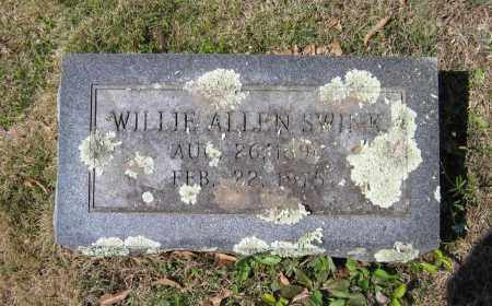 SWINK, WILLIE ALLEN - Lawrence County, Arkansas | WILLIE ALLEN SWINK - Arkansas Gravestone Photos