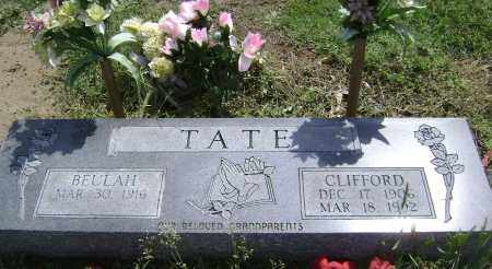 TATE, CLIFFORD - Lawrence County, Arkansas | CLIFFORD TATE - Arkansas Gravestone Photos