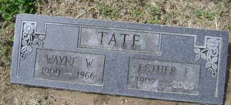 TATE, WAYNE W. - Lawrence County, Arkansas | WAYNE W. TATE - Arkansas Gravestone Photos