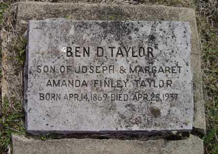 "TAYLOR, BENJAMIN D. ""BEN"" - Lawrence County, Arkansas | BENJAMIN D. ""BEN"" TAYLOR - Arkansas Gravestone Photos"
