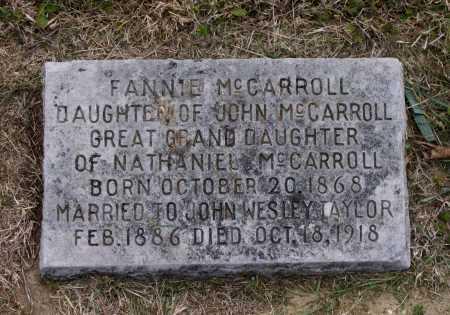 MCCARROLL TAYLOR, FANNIE - Lawrence County, Arkansas | FANNIE MCCARROLL TAYLOR - Arkansas Gravestone Photos