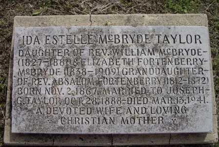 MCBRYDE TAYLOR, IDA ESTELLE - Lawrence County, Arkansas | IDA ESTELLE MCBRYDE TAYLOR - Arkansas Gravestone Photos
