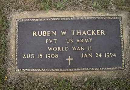 THACKER (VETERAN WWII), RUBEN W. - Lawrence County, Arkansas | RUBEN W. THACKER (VETERAN WWII) - Arkansas Gravestone Photos